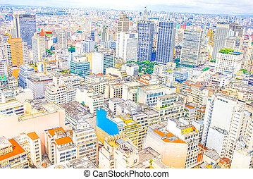 The city of Sao Paulo, Brazil