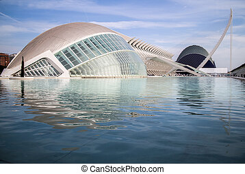 The city of the Arts and Sciences in Valencia - Modern...