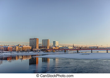 The City of Umea, Sweden in Winter