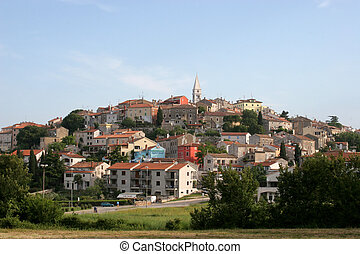 The city of Vrsar in Croatia