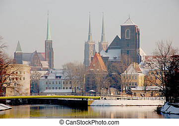 The city of Wroclaw, Poland