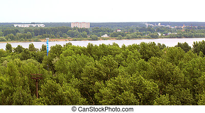 The city of Yaroslavl on the Volga view