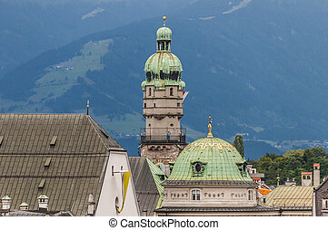 The City Tower in Innsbruck, Austria. - The City Tower was...