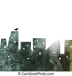 The city wall. abstract illustration.  Vector Background