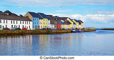 The Claddagh Galway - Panorama of the Claddagh in Galway...