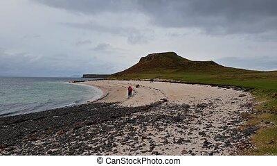The Clagain Coral Beach on the Isle of Skye - Scotland.