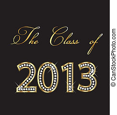 The class of 2013 - Graduation 2013 with gold and diamonds