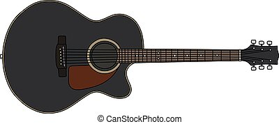 The classic black accoustic guitar