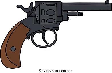 The classic black revolver
