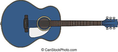 The classic blue accoustic guitar