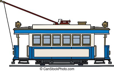 The classic blue tramway