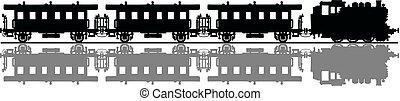 The classic passenger steam train