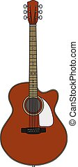 The classic red accoustic guitar