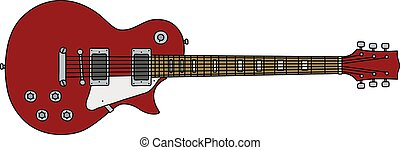The classic red electric guitar