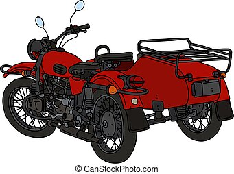The classic red sidecar