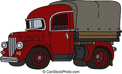 The classic red truck