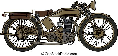 The classic sand motorcycle
