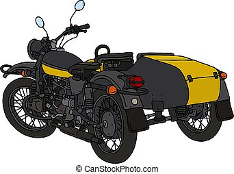 The classic yellow and black sidecar