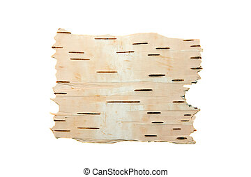 The cleared birch bark - The cleared bark of a birch...