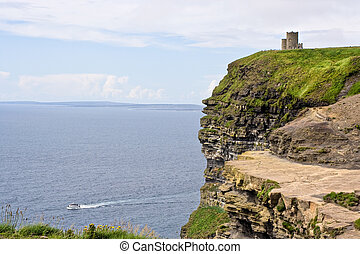 The Cliffs of Moher in County Clare, Ireland. This is on the...