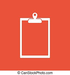 The clipboard icon. Paperwork symbol. Flat Vector...