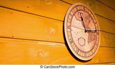 The clock on the wall. Timelapse - Analog Clock with the...