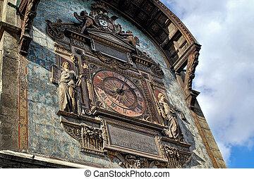 The clock tower in Paris