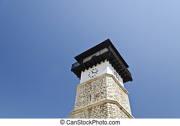 """The clock tower in the """"Old Dobrich"""""""