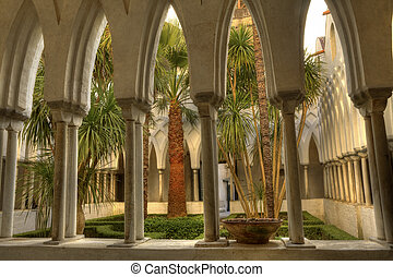 The Cloister of Paradise of Amalfi cathedral - The Cloister...