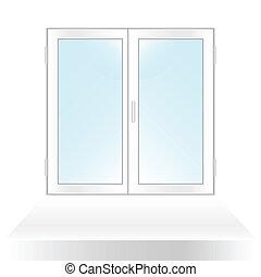 The closed window.