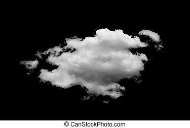 The Clouds isolated on black background