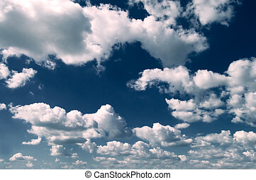 The clouds - The white clouds on background blue sky.