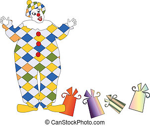 The clown with a gift