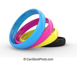 The CMYK colors