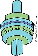 The CN Tower in Toronto icon cartoon