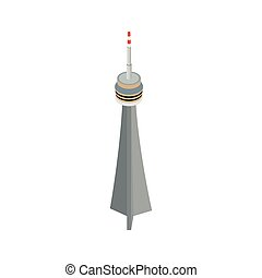 The CN Tower, Toronto icon in isometric 3d style - The CN...