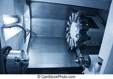 The  CNC lathe machine
