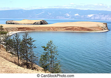 The coast at Lake Baikal, Olkhon island, Russia