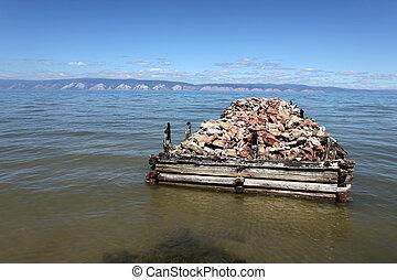 The coast at Lake Baikal