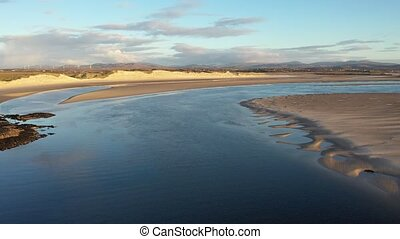The coast between Kiltoorish bay beach and the Sheskinmore bay between Ardara and Portnoo in Donegal - Ireland.