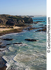 The coast near the little town of Arniston, South Africa