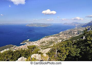 city Makarska - The coast of city Makarska Croatia