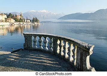 The coast of lake Como at Tremezzo