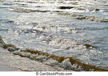The coast of Sea Azov - The coast of the Sea of Azov. Beach...