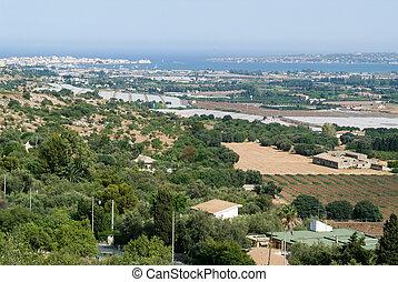 The coast of Siracusa on Sicily