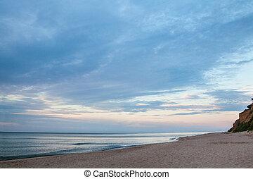 The coast of the Black Sea in Ukraine