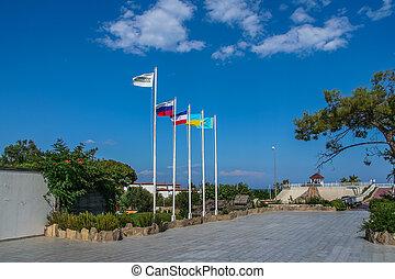 The coast of the Mediterranean Sea in Camyuva