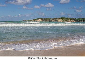the coast with sandy beaches