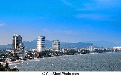 The coastal resort town