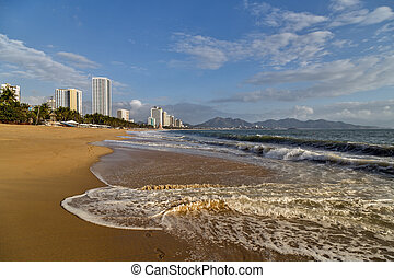 The coastal town of Nha Trang is the heart of Vietnam's beach resort scene.